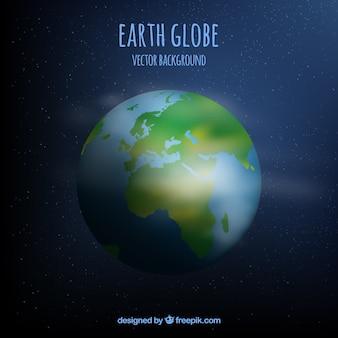 地球儀のベクトルの背景
