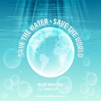 Earth water day background