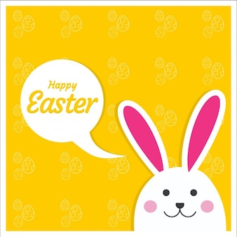 Easter  card with yellow background