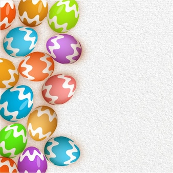 Easter background with colorful decorative eggs