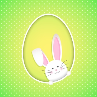 Easter background with cute bunny