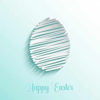 Easter background with scribble egg