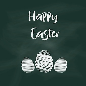 Easter background with text on chalkboard design