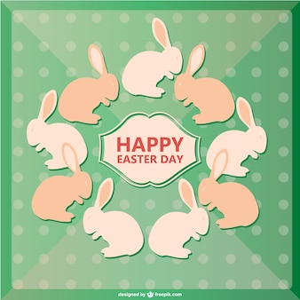 Easter bunnies card design