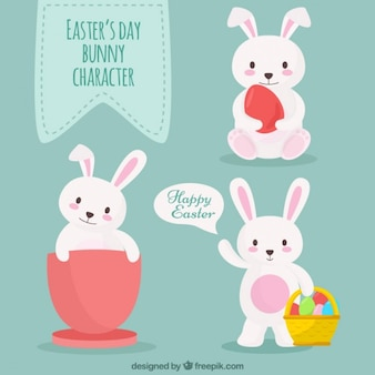 Easter Bunny Flat Characters