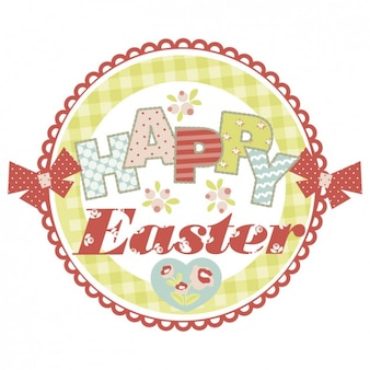 Easter card in scrapbook style