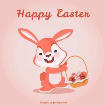 Easter card with cute rabbit