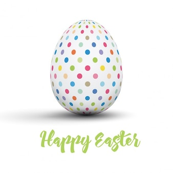 Easter card with dotted egg