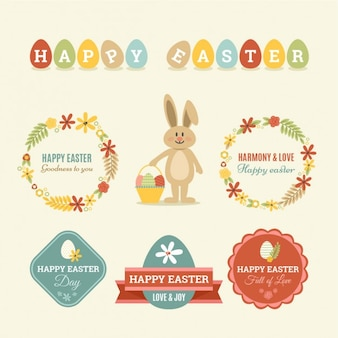 Easter cute badges