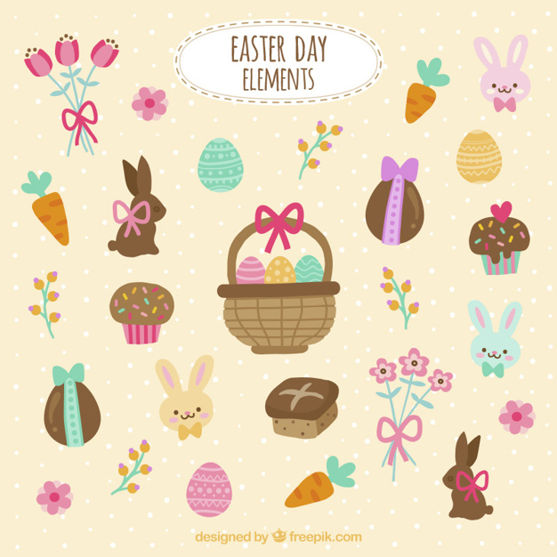 Easter day elements