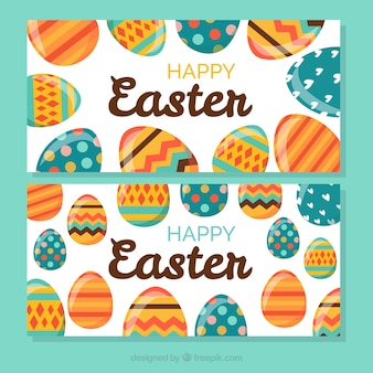 Easter egg banners