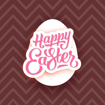 Easter egg brown background