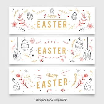 Easter egg sketches banners