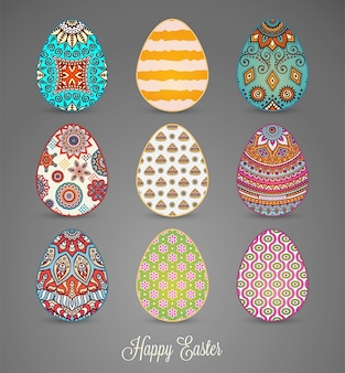 Easter eggs with mandalas