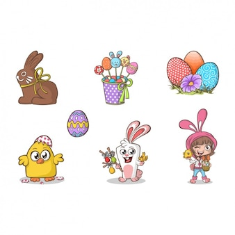 Easter elements collection