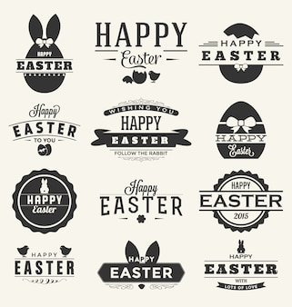 Easter labels collection