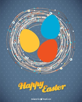Easter nest card