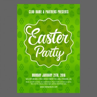 Easter party poster design