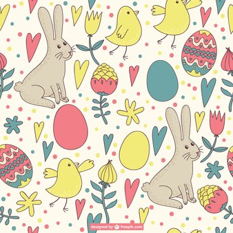 Easter pattern retro design