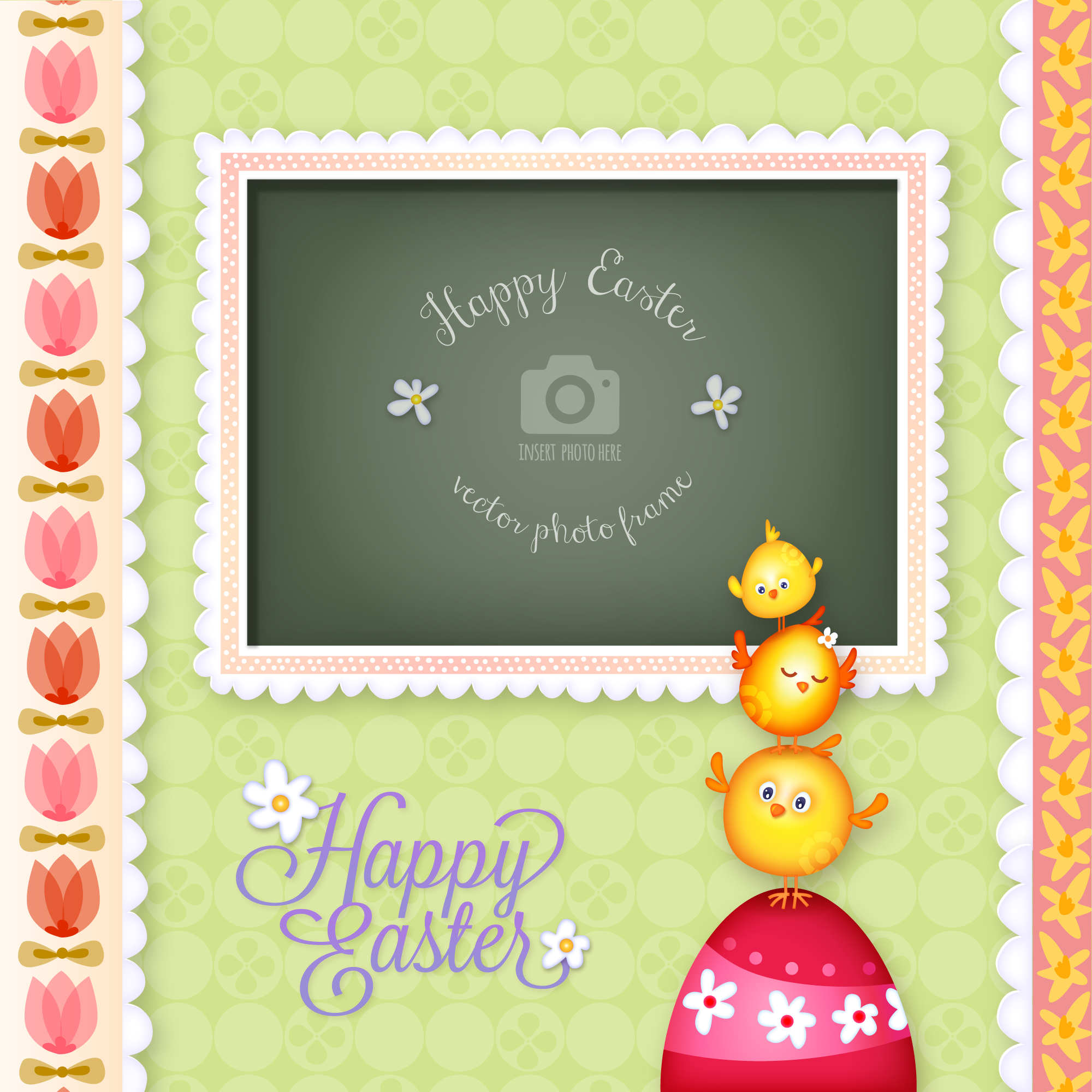 Easter photo frame design