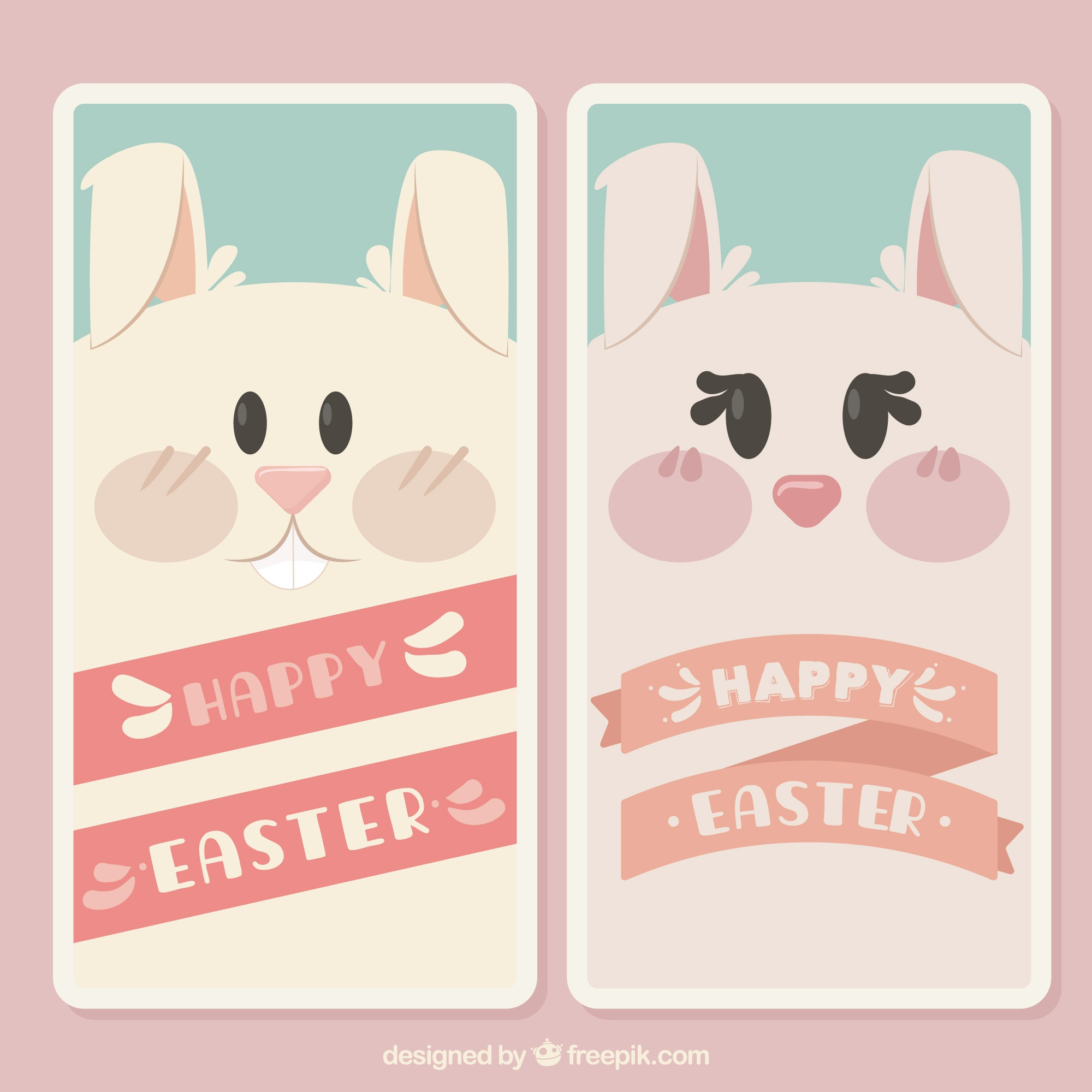 Easter rabbits banners