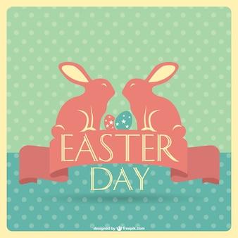 Easter retro card design