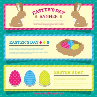 Easter's day banners set