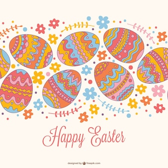 Easter seamless card design