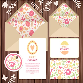 Easter stationery design