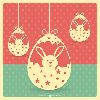 Easter vintage template
