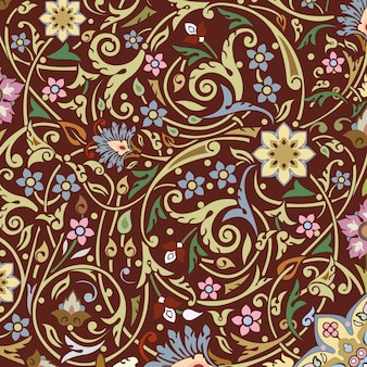 Eastern style seamless ornamental pattern design