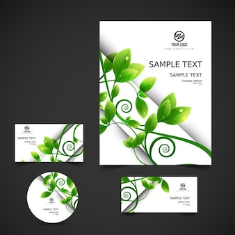 Eco business stationery