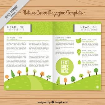 Eco magazine template