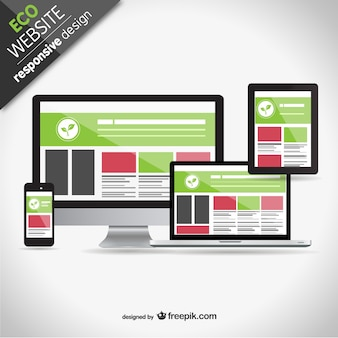 Eco responsive web design screens