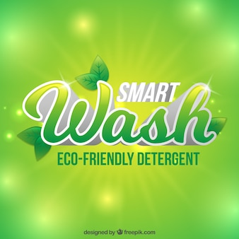 Ecological detergent background
