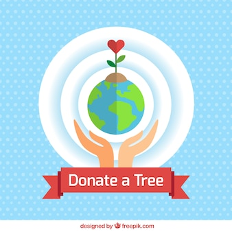 Ecological donation background in flat design