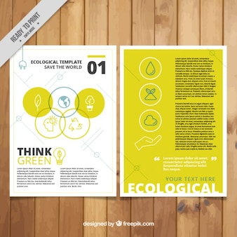 Ecological flyer in yellow color