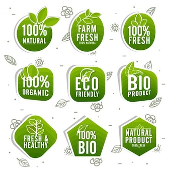 Ecological labels with different designs