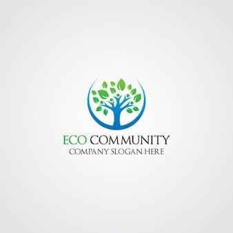 Ecological tree logo