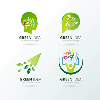 Коллекция Экология логотипы