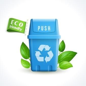 Ecology symbol trash can