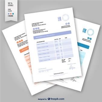 Editable invoice template