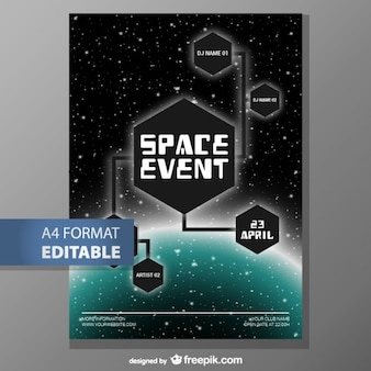 Editable poster template fee download