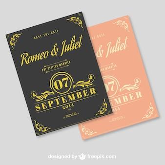 Editable typogaphic wedding invitation