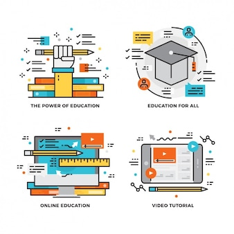 Education designs collection