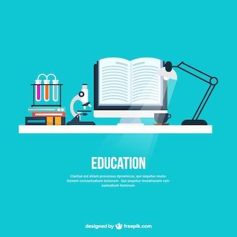 Education desk background