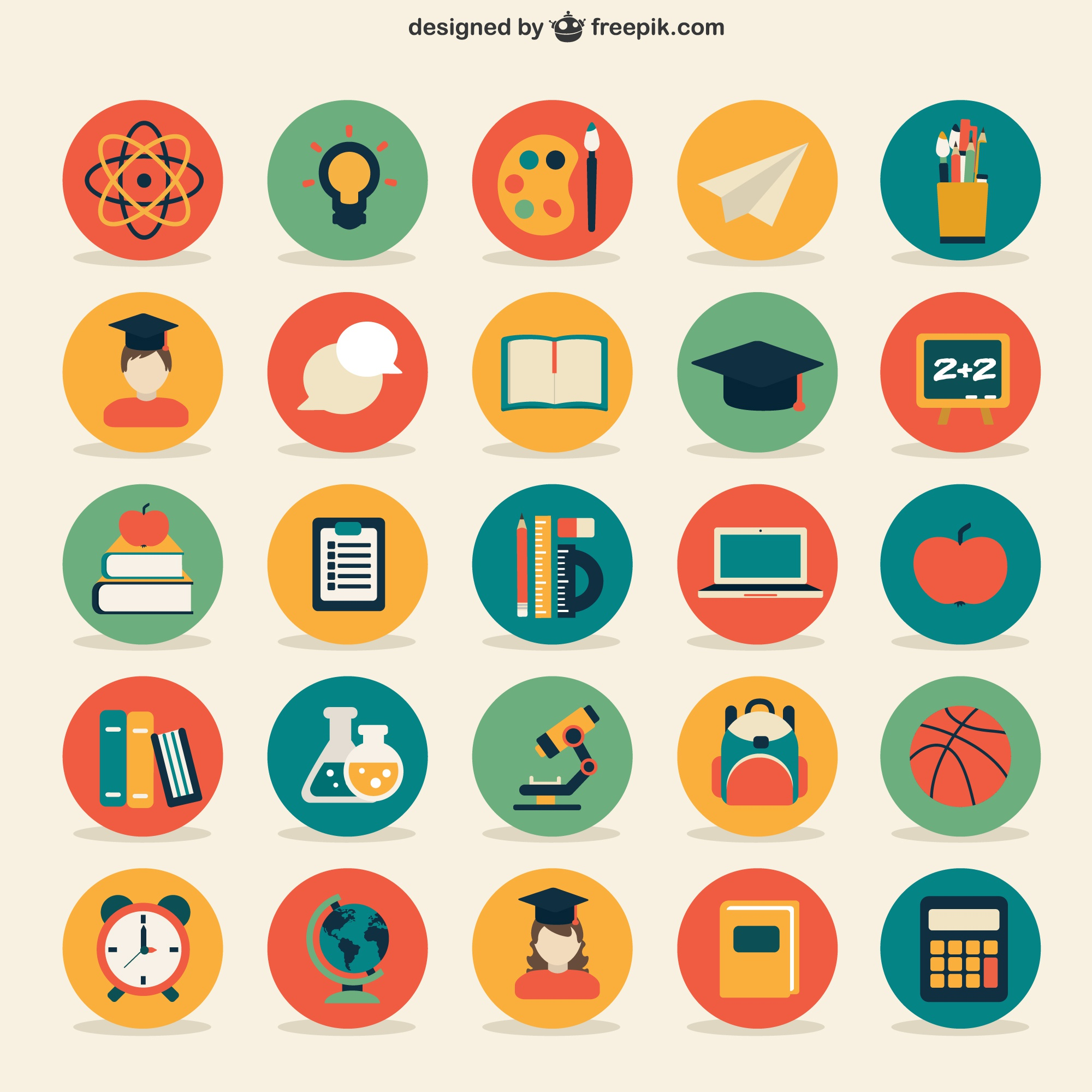 Education icons collection