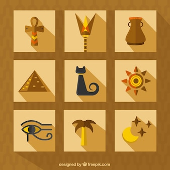 Egypt culture icons