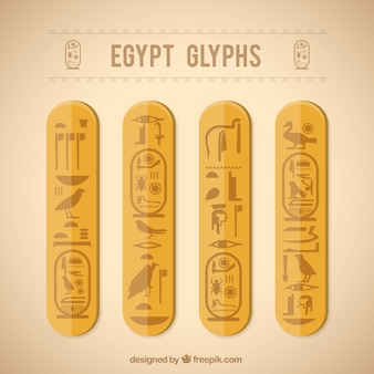 Egypt glyphs