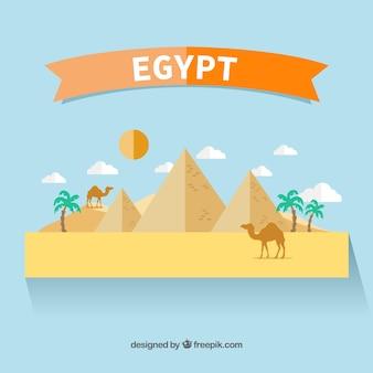 Egypt landscape in flat design